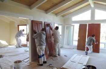 Finishing doors in home