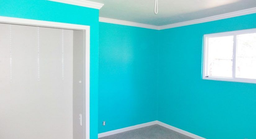 Blue painted interior