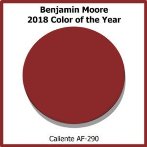 Benjamin Moore 2018 color of the year, Caliente.