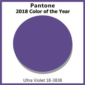 Pantone's 2018 color of the year, Ultra Violet.