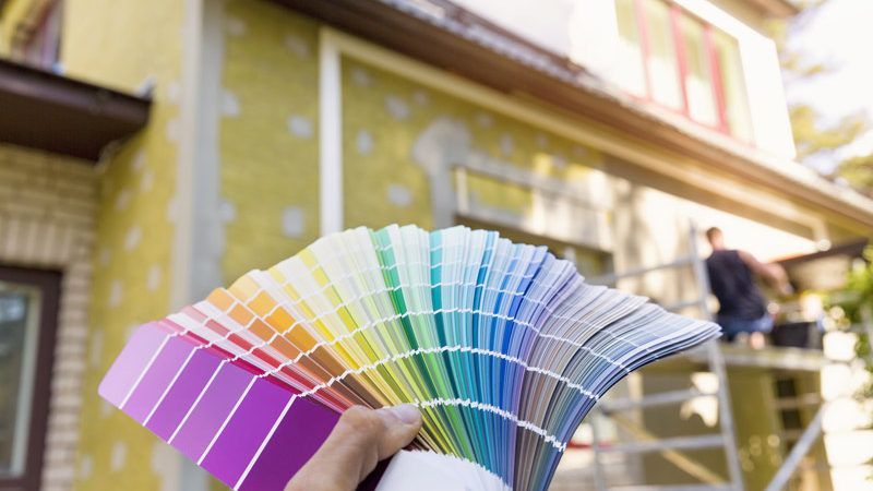 Choosing exterior paint color.