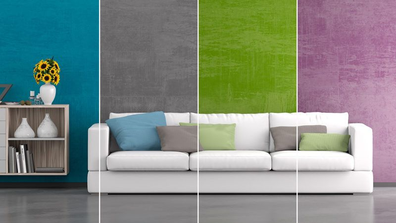 Living Room Walls Painted Multiple Colors