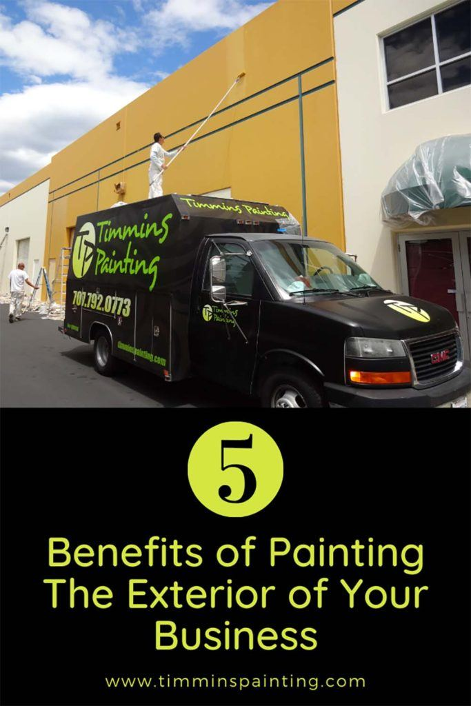 Graphic 5 Benefits of Painting the Exterior of your Business